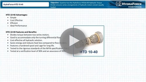 Video: HydraForce HTD Hydraulic Torque Divider